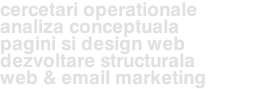 cercetari operationale analiza conceptuala pagini si design web dezvoltare structurala web & email marketing